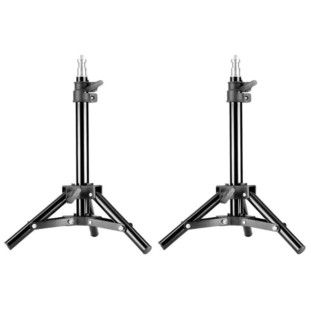 Neewer 2 قطع ضوء موقف التصوير استوديو الصور 50 سنتيمتر/20 بوصة الألومنيوم سطح الطاولة صغير الخلفية حامل