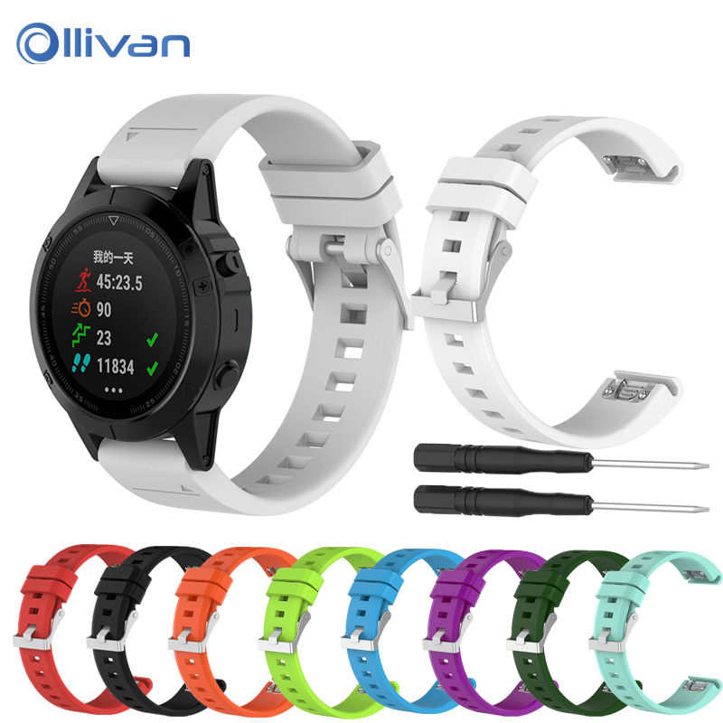 22mm Sports Silicone Quick Release Wrist Band With Tools Quickfit Watch Strap for Fenix5 Watchband for Garmin Fenix 5/quatix5