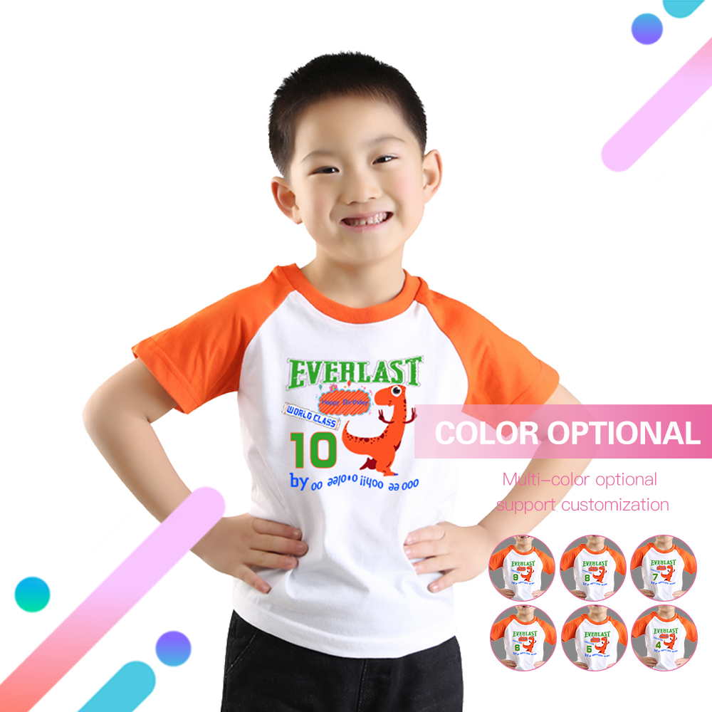 Birthday T Shirt For Boys Purple Ragalan Boy Children Clothes Short Sleeves Tops Children O Neck Children Tees Kids Clothes in T Shirts from Mother Kids