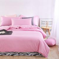 UNIHOME Luxury Zebra Full/Queen Duvet cover set 300 thread count fiber reactive prints bedding set PINK