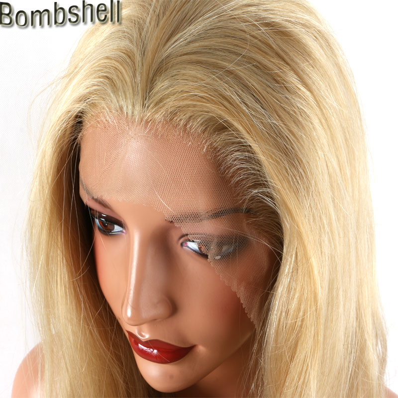 Bombshell Mix Glode Blonde Natural Wave Synthetic Lace Front Wig High Temperature Fiber Natural Hairline For