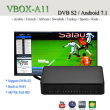 4 K Quad Core Android TV Box DVB-S2 Satellite TV récepteur soutien Europe clines Mars TV Full HD 1080 P IPTV boîtier décodeur(China)