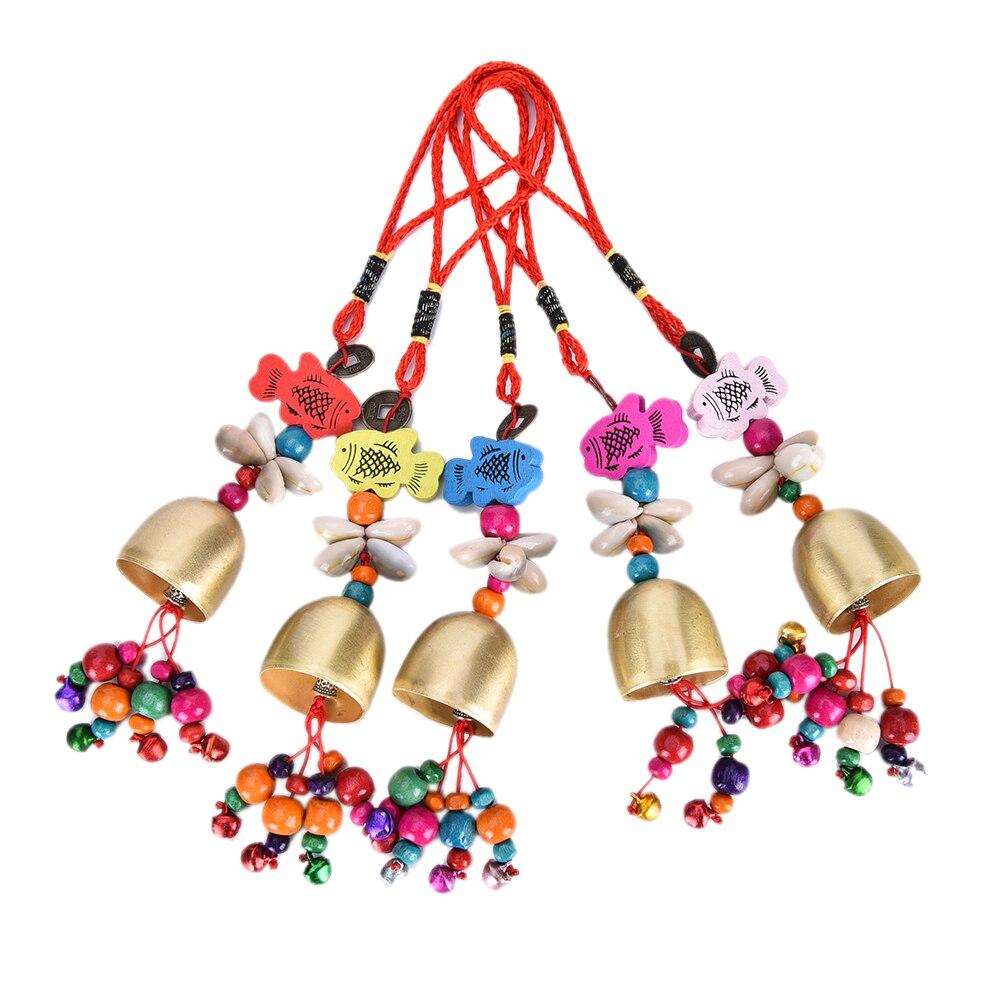 1 шт. на открытом воздухе висячие украшения Ретро Медь Белл мобильный wind chime двор дома домашний сад на продажу