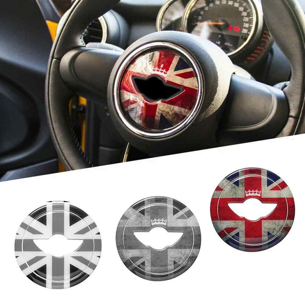 Union Jack 3D Steering Wheel Center Sticker Decal Decoration for BMW MINI Cooper JCW F54 F55 F56 F60 New Countryman Car Styling