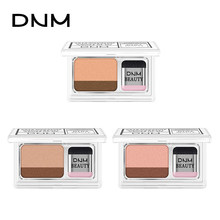 Dnm Malas Double Warna Pearly Eyeshadow Cantik Logam Glitter Tahan Air 3D Eye Shadow Sihir Eyeshadow Cap Lipatan dengan Sikat(China)
