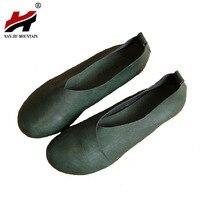 2017 Original Vintage Art Handmade Shoes Brand Genuine Leather Flats Women Shoes Shallow Mouth Casual Fashion