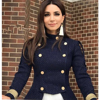 Autumn Winter Fashion High End Long Sleeve Coat Women Casual Patchwork Outwear Clothing Vintage Short Coats