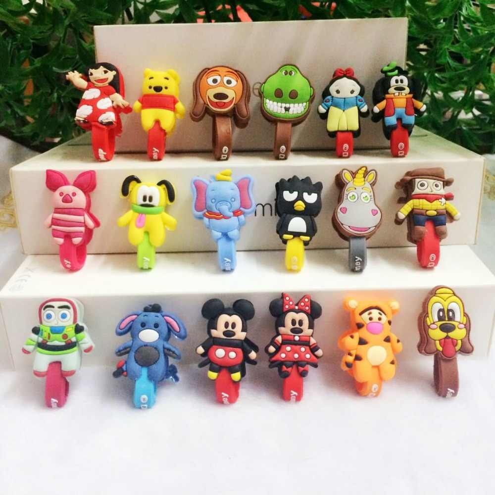 10pcs/lot Cute Cartoon Cable winder Cable Wire Organizer for iphone Charger data cable Earphone Cord Winder Storge