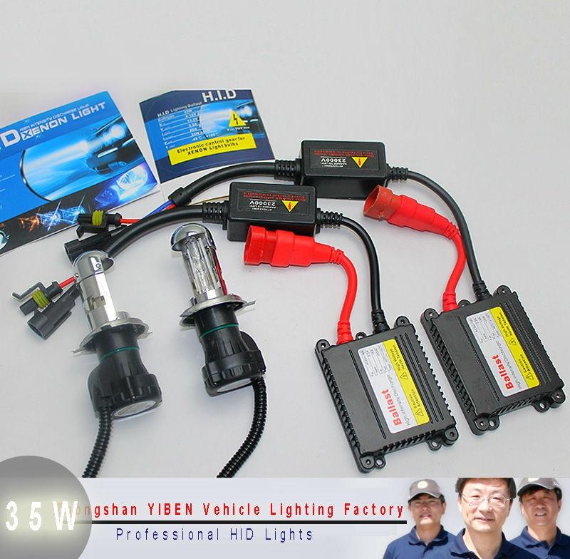 Hot!! Slim Hid Kit h4 Bixenon h/l Beam Xenon Light DC 12v 35w Car Lamp  H/L Beam Bi Xenon xenon h4 6000k car light source guang dian bixenon h4 kit 35w hi lo beam h4 bixenon kit dual beam kit car led headlight with 35w ac slim ballest for peugeot 407