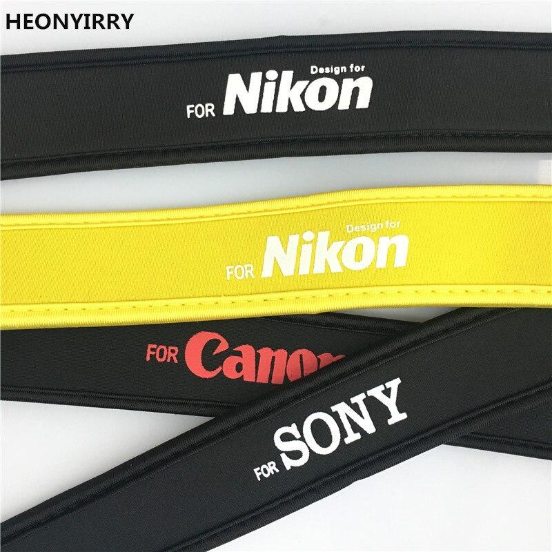Cotton Neck Shoulder Black Belt Flexible Camera Strap for DSLR Sony Canon Nikon Pentax Panasonic Accessory Parts HEONYIRRY