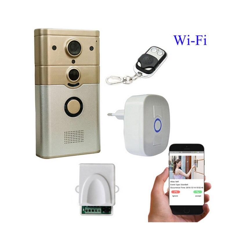 720 P IP sans fil cloche caméra WiFi porte Peehole caméra Vision nocturne PIR vidéo porte caméra cloche téléphone interphone détection de mouvement