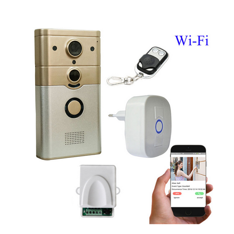 720P IP Wireless bell Camera WiFi Door Peehole camera Night Vision PIR Video Door Camera Bell Phone Doorphone Motion Detection