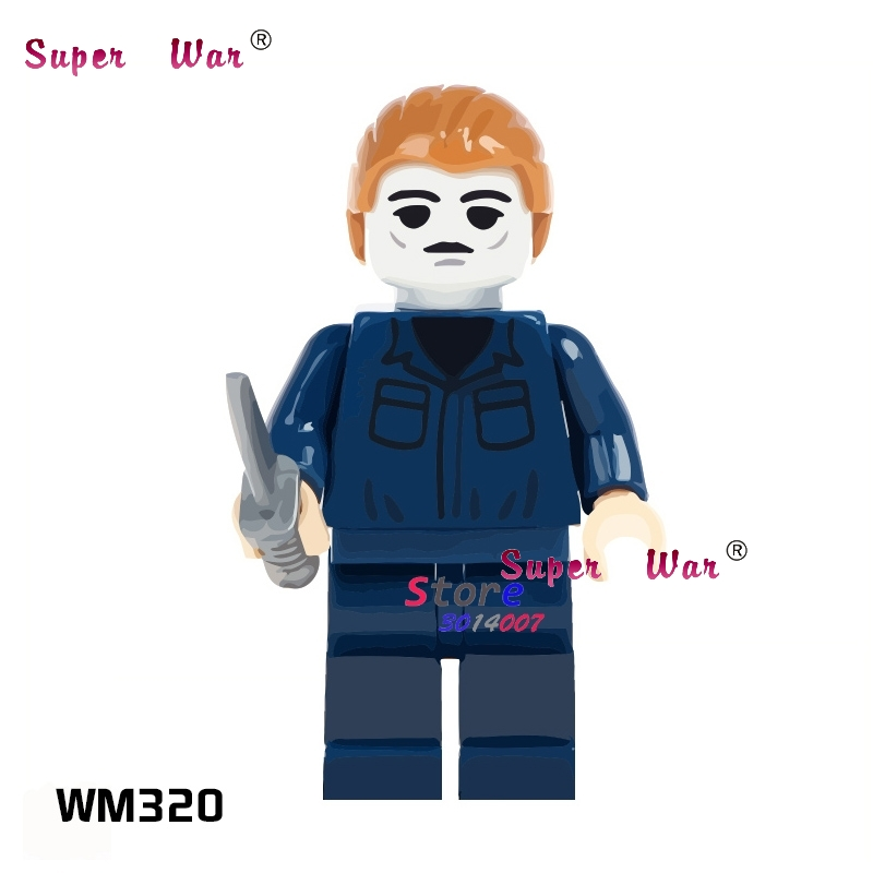 1PCS Model Building Blocks Action   Superheroes Michael Myers Party Series Kit Classic Diy Toys For Children Gift