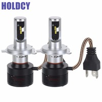 HoldCY H4 HB2 9003 Hi Lo LED Car Headlight 72W 7200lm 6500K ZES Chip All In