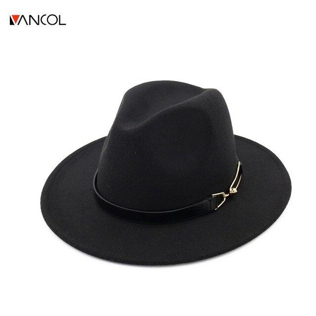 Vancol Tesa Larga autunno moda femminile cappello superiore della  protezione di Jazz inverno fedora cappello di