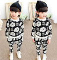 2016 the new girl's clothes set children's baby cute shirt and casual pants spring summer season boys and girls are suitable