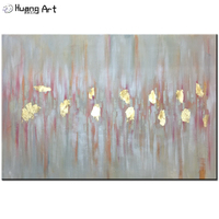Bigger Size In Stock Handmade Oil Painting On Canvas For Living Room Decoration Pink And Gold