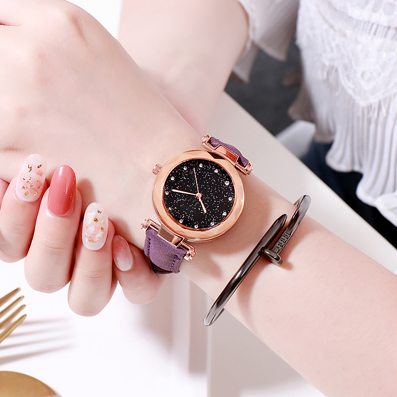 Starry Sky Quartz WristWatch Gift For Girls Teen Fashion Watches Children Wrist Watch Luxury Famous Clock JBRL Relogio Infantil
