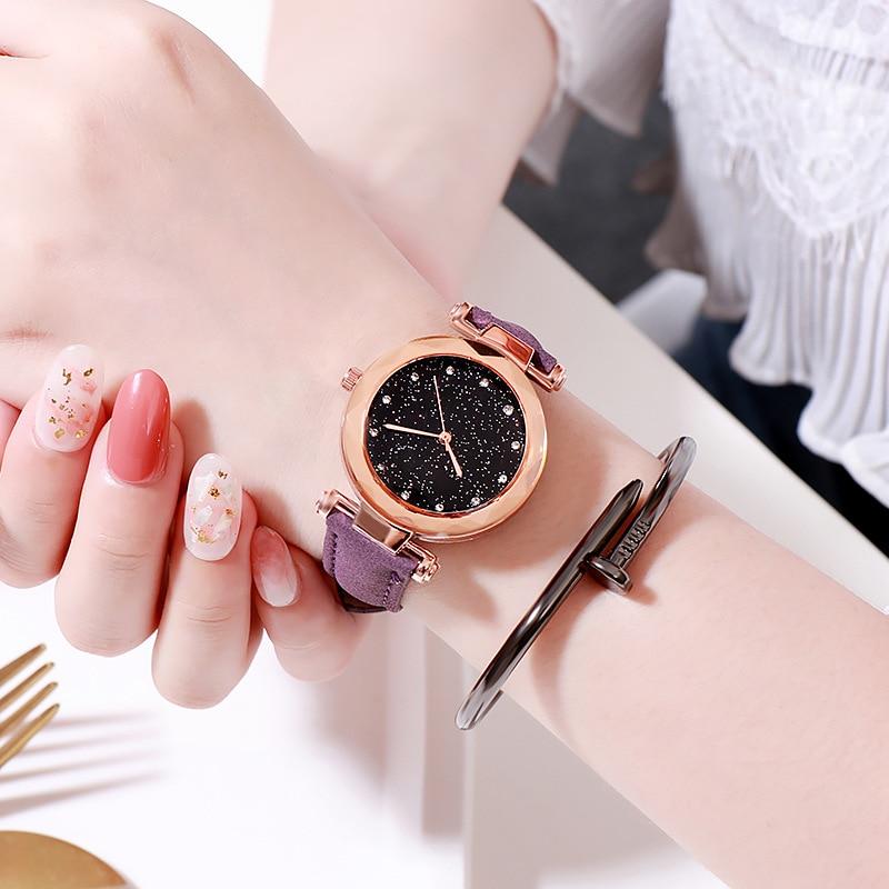 Starry Sky Quartz WristWatch Gift For Girls Teen Fashion Watches Children Wrist Watch Luxury Famous Clock JBRL Relogio Infantil