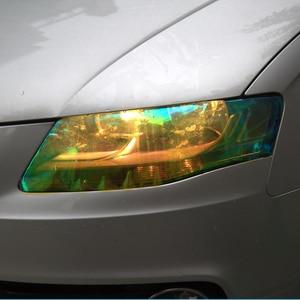 Image 4 - 120*30 см блестящий Хамелеон для стайлинга автомобиля, фары заднего вида, полупрозрачные пленочные огни, меняющие цвет, автомобильные наклейки на пленку