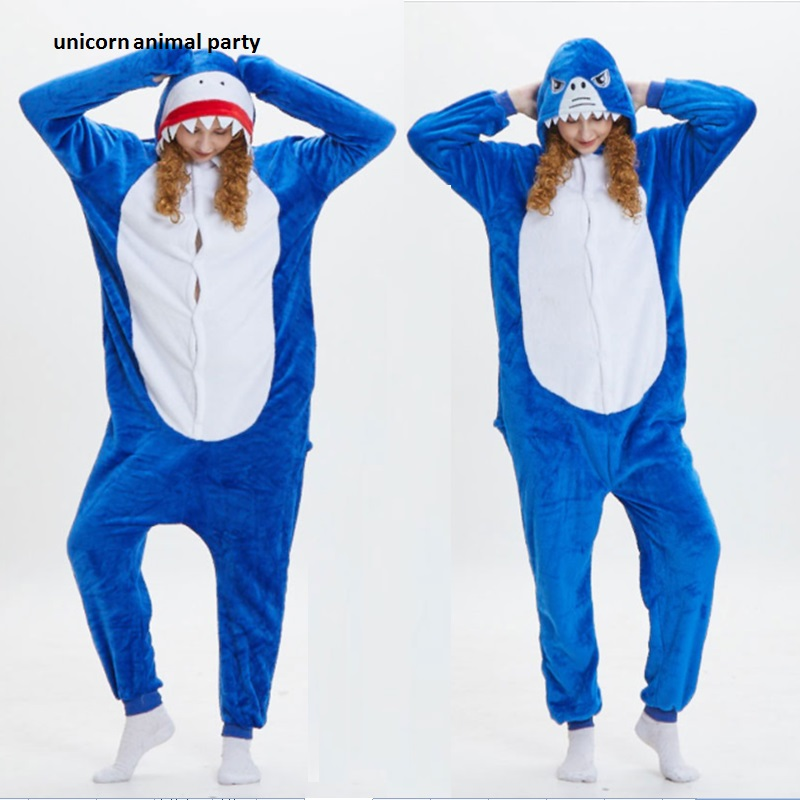 Leuke cartoon onesie Halloween Kigurums Unisex Animal Shark Pyjama - Carnavalskostuums