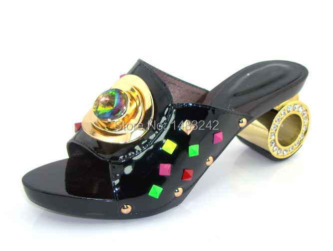 ФОТО Item No.KL015-66 BLACK  New Women Shoes High Heels Italian Women Shoe Elegant Genuine Leather Pumps Glitter Heels Pumps Women