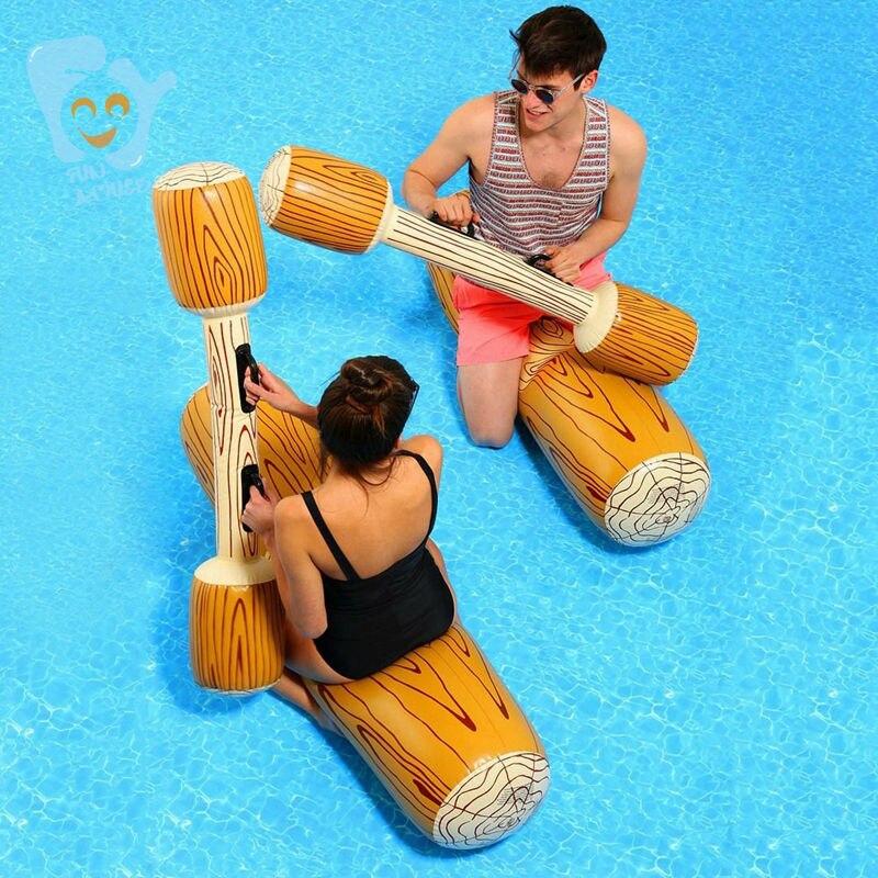 Inflatable Log Joust Set Raft Inflatable Water Joust Pool Float Set Joust Piscina Mattress Water Battle