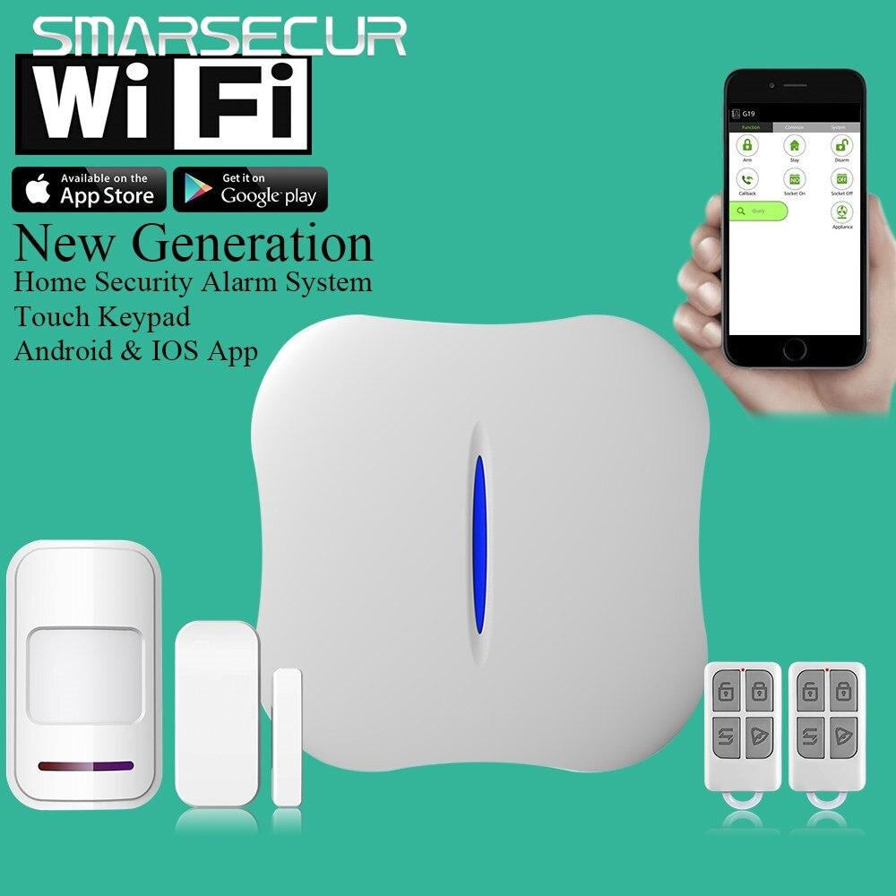 Android/IOS W1 WiFi PSTN Home Burglar Alarm System Remote Control for Home Security w1 wifi pstn burglar alarm for home villa super safe anti theft pet friendly pir alarm system