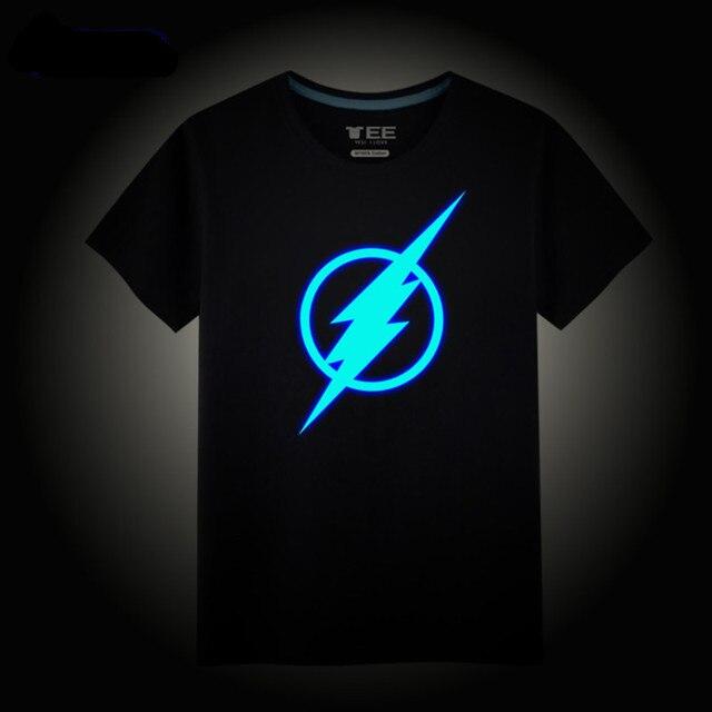 eb20c3491 Superman iron man, flash man T-shirt glow clothes, Avenger League T-shirt,Cool  clothes gift Night king