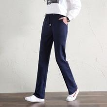 Для женщин брюки с завышенной талией повседневное Chffion Длина Капри Брюки Новинка 2018 года Женская одежда карандаш