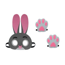 SPECIAL L 27* child rabbit mask baby shower party cosplay toys masks costume brand dress birthday gifts cartoon masque kits