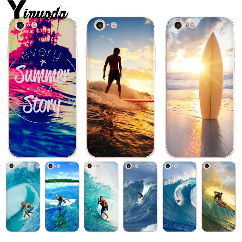 Yinuoda For iPhone 7 6 X Case Sea wave surf summer surfing ocean Coque Phone Case