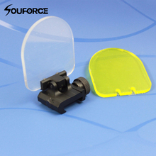 Foldable Airsoft Sight Scope Lens Screen Protector Cover Shi