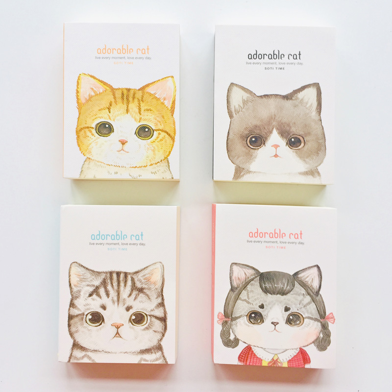 180 Sheets Adorable Cat Portable Pocket Vocabulary Word Notebook Stationery Notepad Learning Language Book