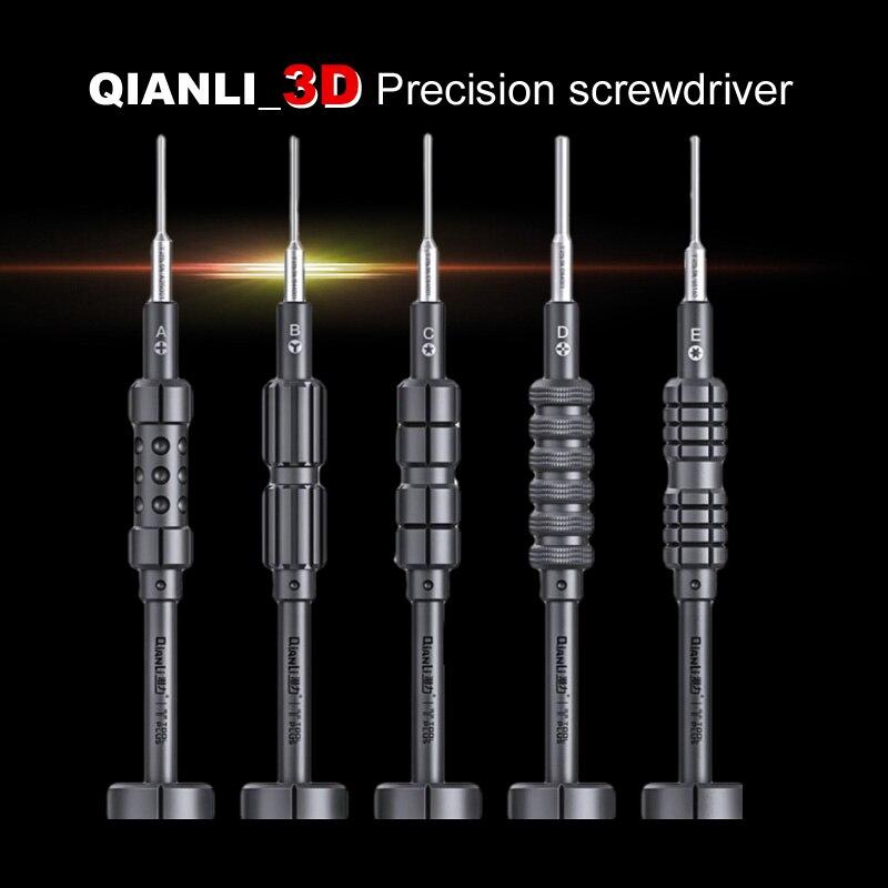 Первоклассный разборный 3D Болтовой привод Wozniak QIANLI для iPhone Samsung мобильный телефон отвертка для ремонта предотвращает скольжение