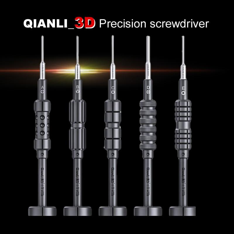 Chaves de fenda Wozniak QIANLI para smartphone, ferramenta reparo iPhone Samsung sem derrapar