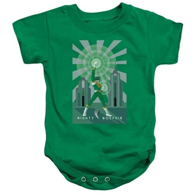 Trevco Power Rangers-Green Ranger Deco Infant Snapsuit Kelly Green – Small 6 Months