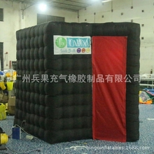 special  inflatable photo booth studio tent with black color with colorful LED light toy tent