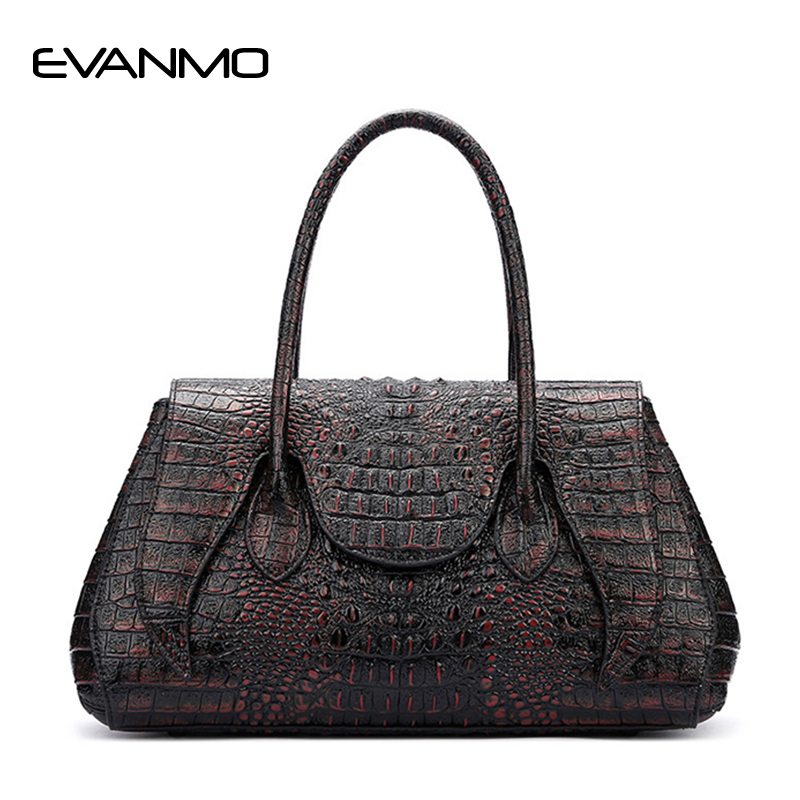 2018 Hot Selling Women Fashion Handbag Alligator Pattern Tote Bag Female Big Handbags Office Lady Famous Brands Top-handle Bags four arrows lady top handle bags handbags women famous brands female stitching casual big shoulder bag tote for girls l4 3046