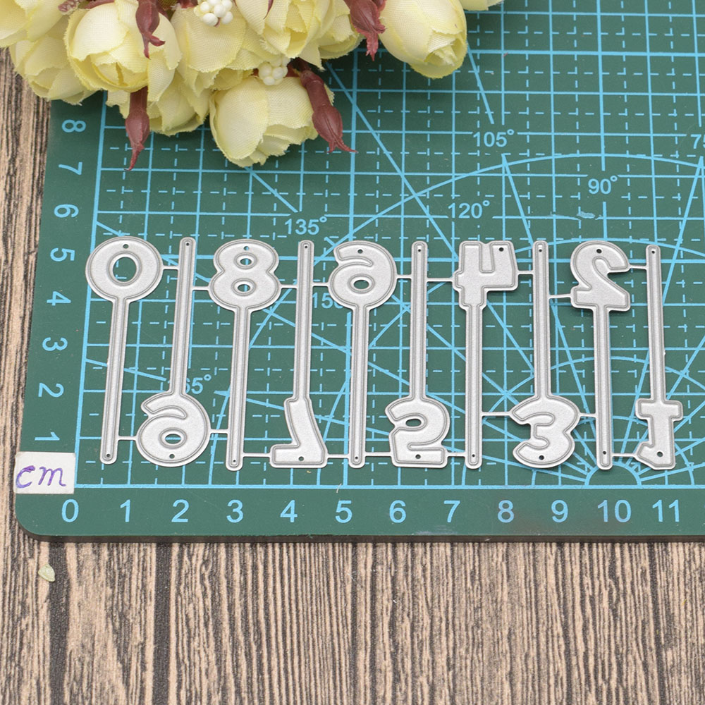 0 to 9 Numbers Digital Metal Cutting Dies Words for Scrapbooking Album Birthday Anniversary Card Making Paper Embossing Die Cuts in Cutting Dies from Home Garden