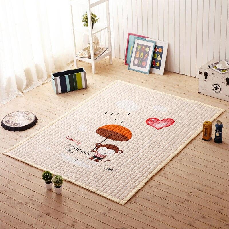 Mignon zèbre singe motif bébé ramper tapis tapis de sol épaissir dessin animé enfants jouer tapis enfant tapis salon antidérapant enfant jeu tapis
