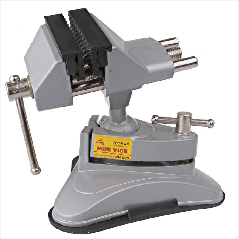 Bench Vise Vacuum Suction Table Vise 360 Universal Adjustable Aluminium Table Alloy Bench Screw Model Vise Repair Tools RH-003 mini table vice adjustable max 37mm plastic screw bench vise for diy jewelry craft repair tools dremel power tools accessories