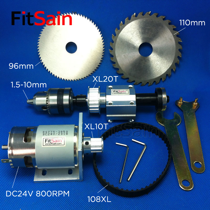 FitSain-DIY Table Saw DC24V 8000RPM  XL 1:2 B12 Bench Saw Spindle Precision Transmission Bearing Seat Small Lathe Spindle