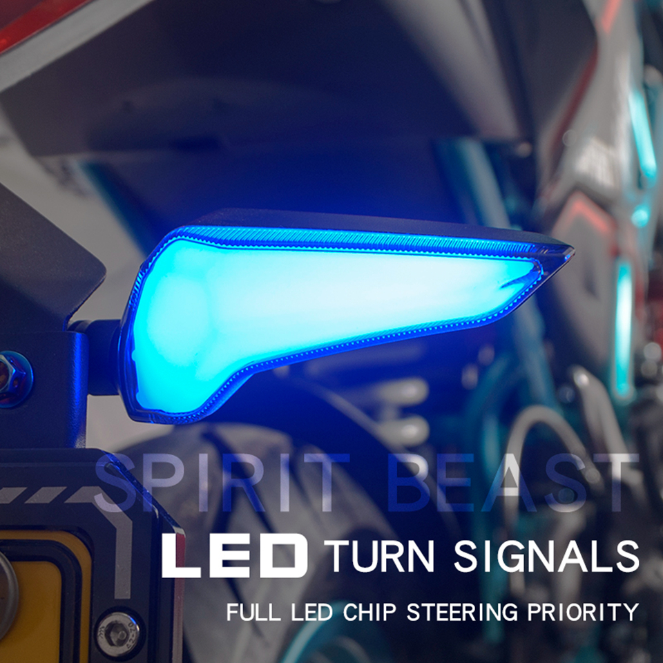 Spirit Beast-L12 Universal Motorcycle Turn Signal LED Day-time&night-time Running Light Motorbike Front/Rear Direction Indicator
