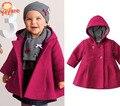 Nueva chaqueta 2015 de invierno para niña en super venta, abrigo rosado para bebé niña, chaquetas de moda para niños de 1 a 3 años, ropa infantil exterior