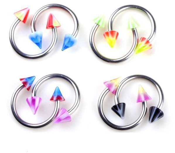 12 Pcs/Lot Hot Nose rings 12mm*8mm Nose piercing Acrylic Indian Nose Ring Septum Nipple Rings Body Jewelrys
