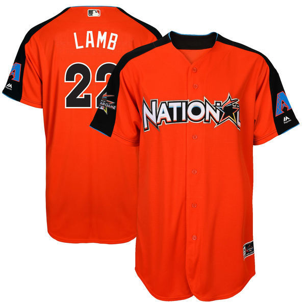 MLB Mens National League Jake Lamb Orange 2017 MLB All-Star Game Home Run Derby Player J ...