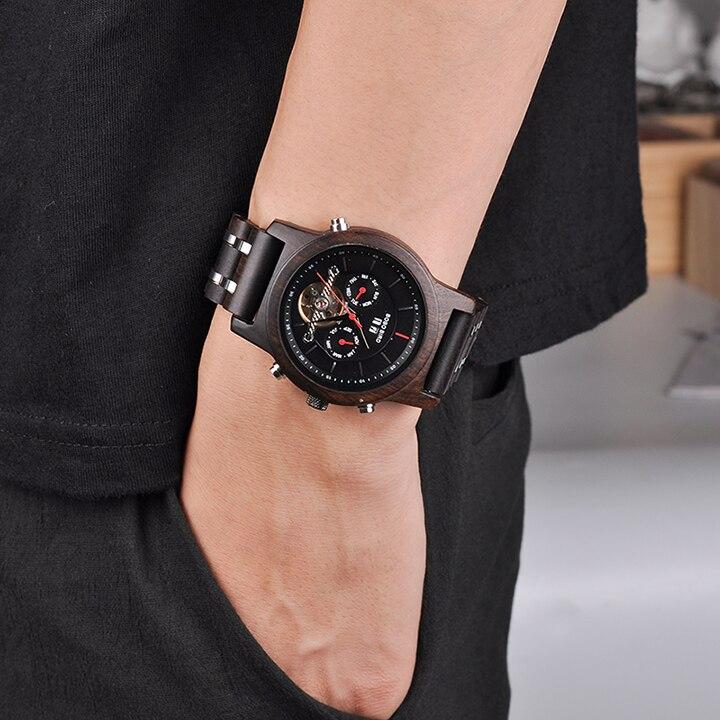 Bobo pássaro relógios mecânicos masculino marca superior