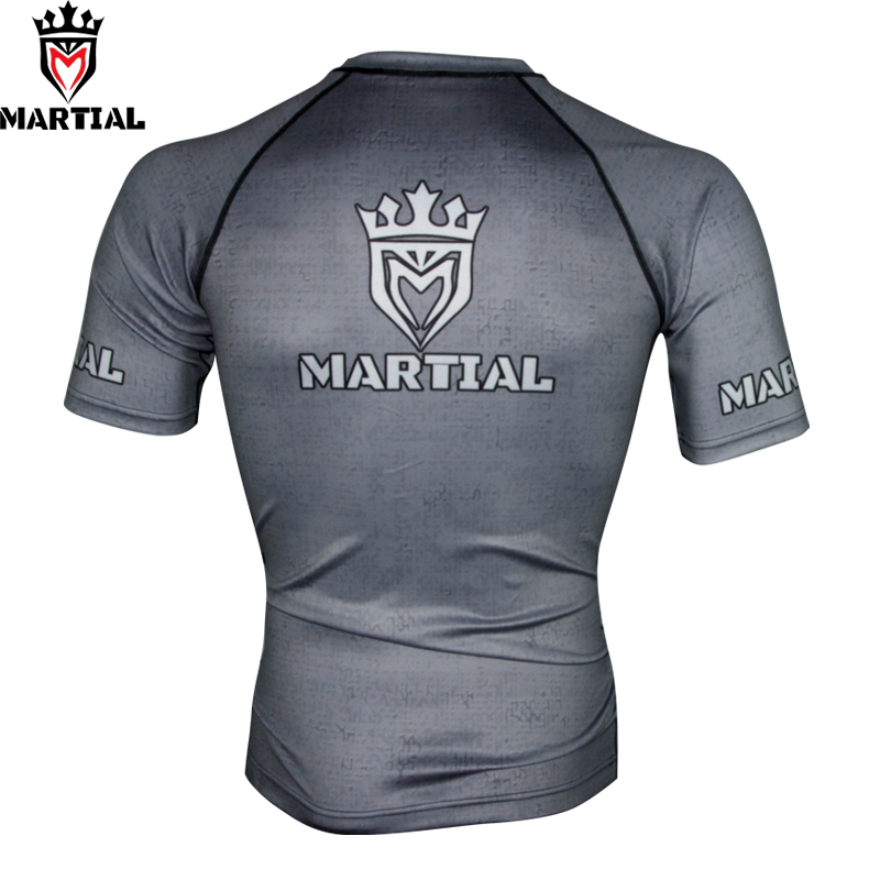 Martial 2019 Wholesale  Printed Dri Fit Shirts For Men Sport Bjj Trainning Shirt Boxing Fitness Clothing Sport Jersey