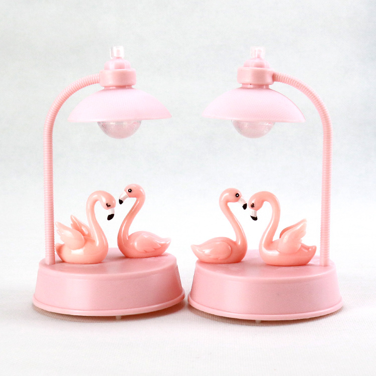 Mycyk Flamingo Music Lights Little Night Lights Girls Room Decorated With LED Lights Bedroom Girls Students Lovely Birthday Gift